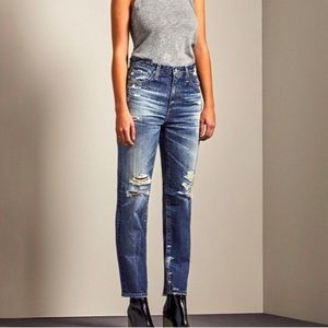 AG vintage high rise embroidered jeans 25 R phoebe